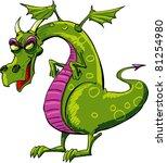 Evil Dragon Cartoon. Isolated...