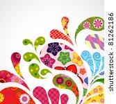 splash of floral and ornamental ... | Shutterstock . vector #81262186