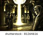 the mystic ritual in the dark... | Shutterstock . vector #81264616