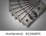 heap of dollars money background - stock photo