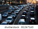 late afternoon traffic. | Shutterstock . vector #81267163
