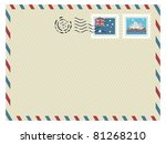australia airmail envelope with ... | Shutterstock .eps vector #81268210
