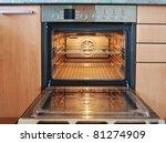 empty open oven | Shutterstock . vector #81274909