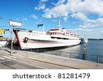 Ship at Harbour in Toronto, Canada - stock photo