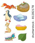 vector illustration  animals... | Shutterstock .eps vector #81282178