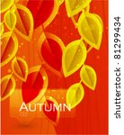 autumn leaves. vector abstract... | Shutterstock .eps vector #81299434