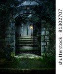 illustration of a dark haunted... | Shutterstock . vector #81302707