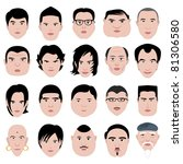man face shape hairstyle round... | Shutterstock . vector #81306580
