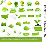 bio signs set  isolated on... | Shutterstock . vector #81308998