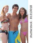 teenagers on the beach | Shutterstock . vector #81313018
