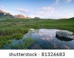 sunrise over mountains | Shutterstock . vector #81326683