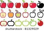set of apple icons   Shutterstock .eps vector #81329029