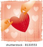 two hands holding a fragile... | Shutterstock .eps vector #8133553