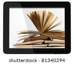 book and generic teblet... | Shutterstock . vector #81340294