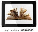 book and generic teblet... | Shutterstock . vector #81340303