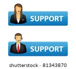 support buttons with operator... | Shutterstock .eps vector #81343870
