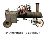 Part Of Old Steam Tractor On A...