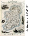Ireland Old Map. Created By...