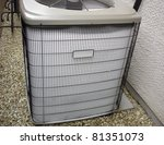 malfunctioning heat pump... | Shutterstock . vector #81351073