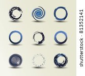 collection of circle design | Shutterstock .eps vector #81352141
