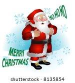 santa clause. a  illustration...   Shutterstock . vector #8135854