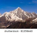 snowbound mountain peak. french ...