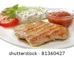 food isolated - stock photo