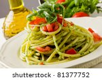 photo of delicious pasta with... | Shutterstock . vector #81377752