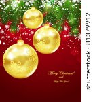 christmas greetings postcard. | Shutterstock .eps vector #81379912