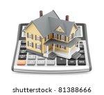 Mortgage Calculator - stock photo