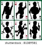 murder mystery cards | Shutterstock .eps vector #81389581