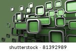 Abstract 3D background for company presentation - stock photo