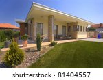 house exterior with landscaped... | Shutterstock . vector #81404557