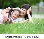 young mother and her young... | Shutterstock . vector #81416122