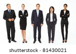 mixed group of business men and ... | Shutterstock . vector #81430021