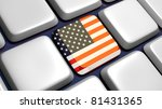 keyboard  detail  with usa flag ... | Shutterstock . vector #81431365