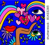 rainbow love | Shutterstock .eps vector #81433285