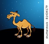night background with camel ... | Shutterstock .eps vector #81434179