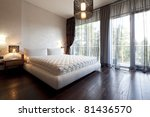 interior of designer bedroom... | Shutterstock . vector #81436570