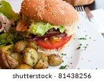 cheese burger   american cheese ... | Shutterstock . vector #81438256