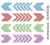 arrow origami tag recycled... | Shutterstock . vector #81440236