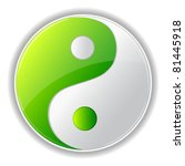 illustration of yin yang symbol ... | Shutterstock .eps vector #81445918