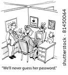 """we'll never guess her password.... | Shutterstock . vector #81450064"
