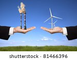 pollution and clean energy... | Shutterstock . vector #81466396