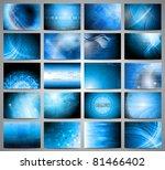 big set of blue technical...   Shutterstock . vector #81466402