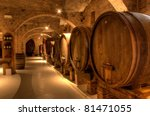 wine cellar in the benedictine...