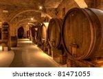wine cellar in the benedictine... | Shutterstock . vector #81471055