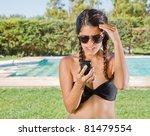woman in sunglasses in a... | Shutterstock . vector #81479554
