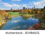 new york city central park in... | Shutterstock . vector #81486631