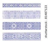 old frame border pattern ornate ... | Shutterstock . vector #81487123